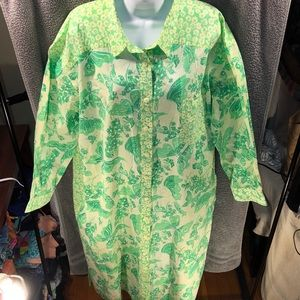 Vintage Lilly Pulitzer Button Down Tee Shirt Dress